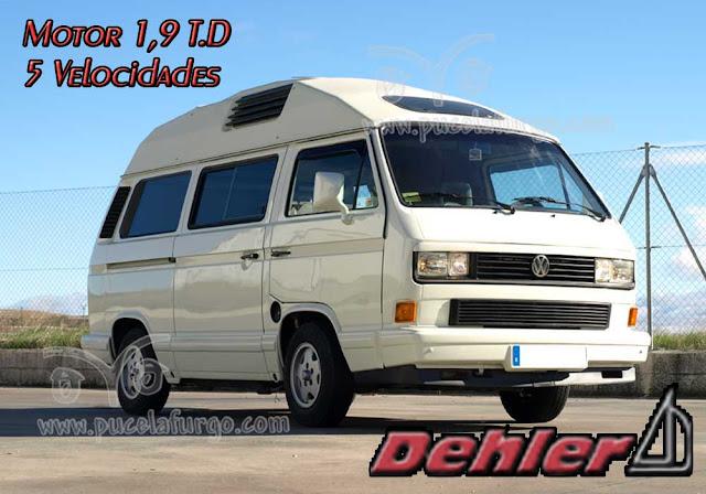 VW T3 DEHLER 1,9 T.D. 5 VELOCIDADES (EXCLUSIVA MODIFICACIÓN) Precio : 11.800 €