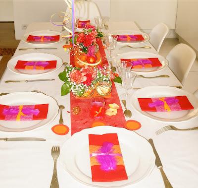 Ma boutique d co table d coration de table nouvel an color for Decoration lumignon 8 decembre