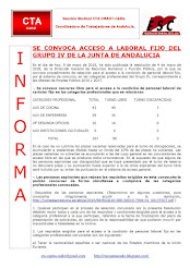 SE CONVOCA ACCESO A LABORAL FIJO DEL GRUPO IV DE LA JUNTA DE ANDALUCIA