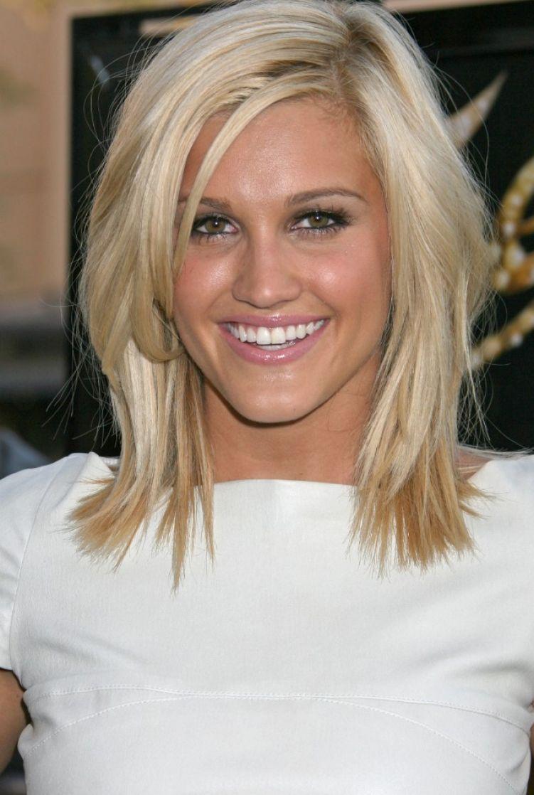 Blonde Medium Length Hairstyles - blondelacquer