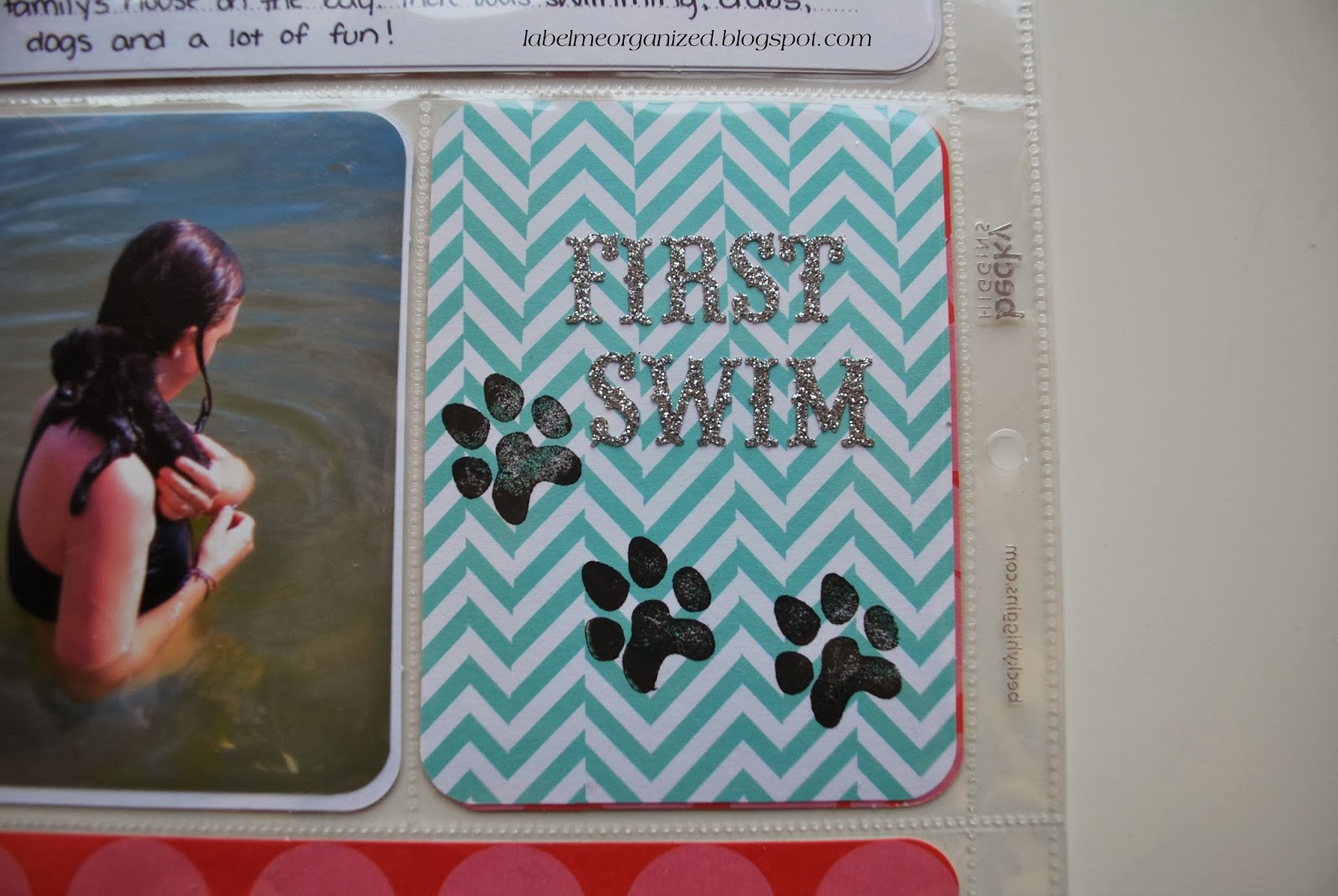 "Project Life ""first swim"" card by labelmeorganized.blogspot.com"