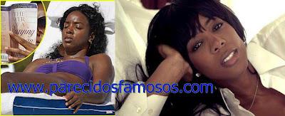 Kelly Rowland Estrellas sin maquillaje