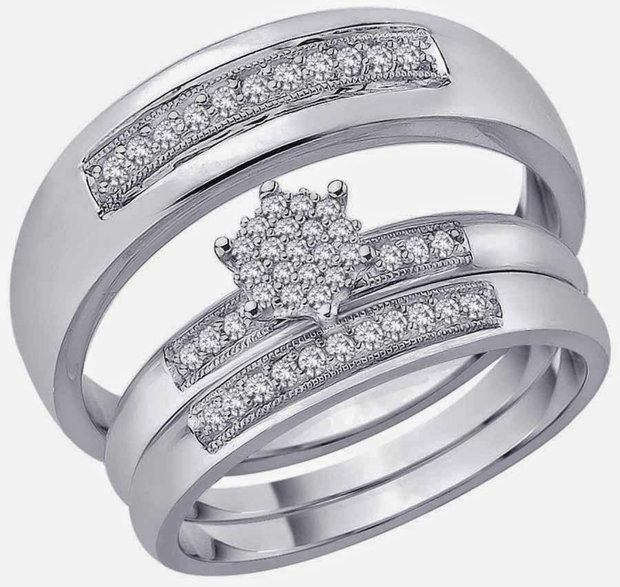 Hexagon Diamond Trio Wedding Ring Sets Walmart Model pictures hd