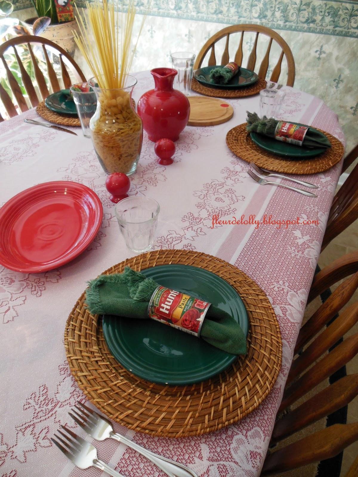 Italian Table Setting Fleur De Lolly Lasagna For Lunch Table Setting