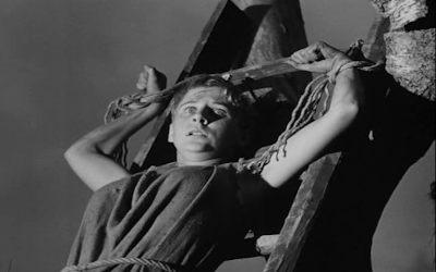 An innocent girl burnt to death on false account of Devil Worship, the seventh seal, directed by Ingmar Bergman