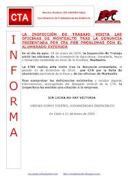 LA INSPECCIÓN DE TRABAJO VISITA LAS OFICINAS DE MONTEALTO TRAS LA DENUNCIA PRESENTADA POR CTA POR P