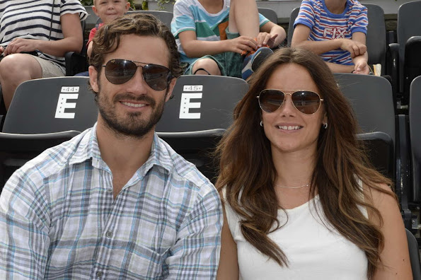 Prince Carl Philip and Sofia Hellqvist in Bastad