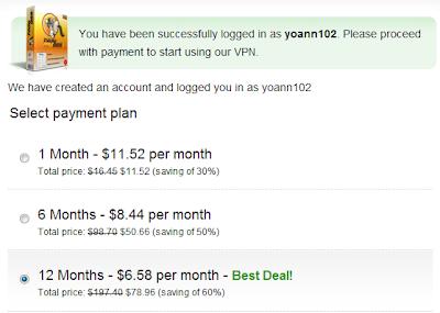 selectpayment Hướng dẫn mua HMA! Pro VPN