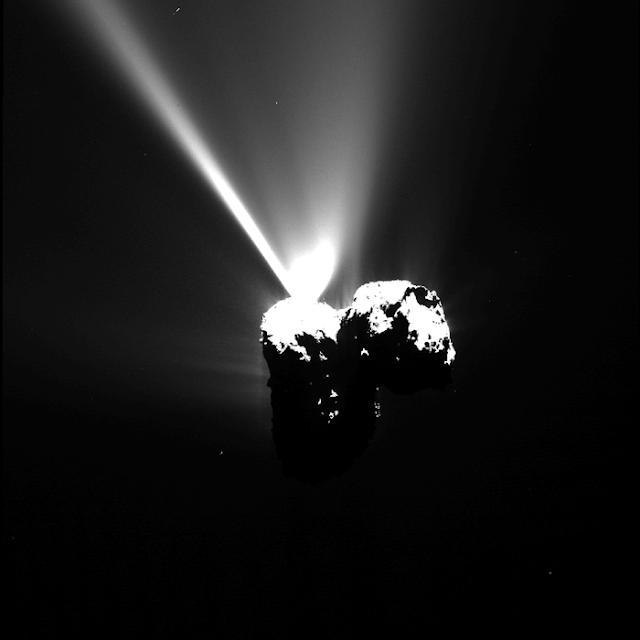 imágenes espectaculares cometa 67P cerca del sol