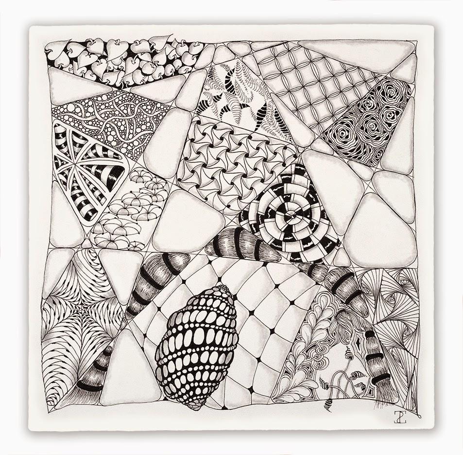 zentangle tile template - zentangle opus contributions