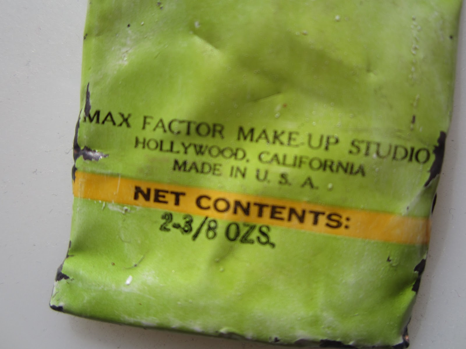 Eating Lipstick: Vintage Makeup: Max Factor Grease Paint
