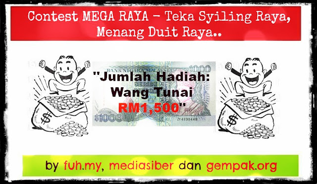 Contest Mega Raya, Teka Syiling Raya, Menang Duit Raya!