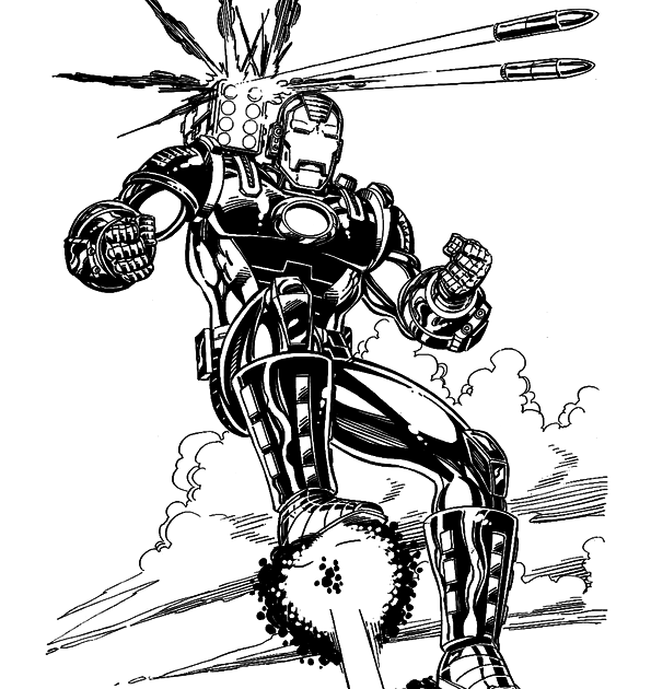 Iron Man Coloring Pages Baby