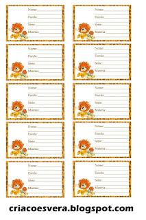 Etiquetas escolares para imprimir