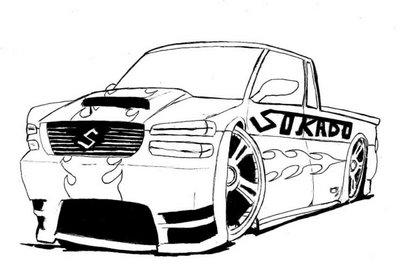 Imagens de carros de corrida para colorir | Pintar Desenhos