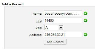mengganti blogspot dengan domain com