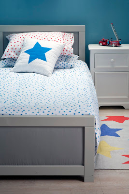 Lulu & Nat | Boys Bedding | Blue Stars Duvet