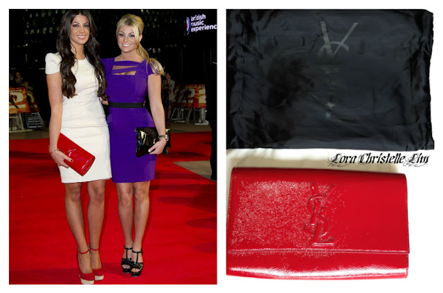 ysl red patent leather clutch