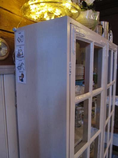 Päivänpesän elämää Kaappi vanhoista ikkunoista