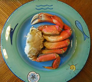 Half Crab on Plate