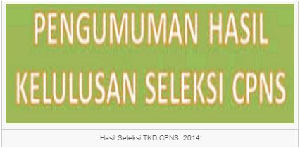 Pengumuman Hasil TKD TKB CPNS Kementrian Lembaga Negara 2014