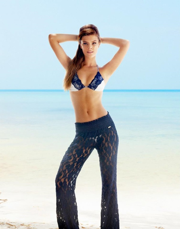 Beach Bunny Swimwear 2014 Cruise Lady Lace Lookbook featuring Nina Agdal