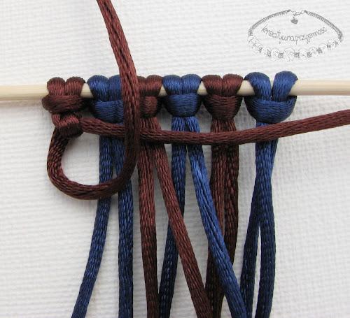 węzeł rypsowy - makrama - 8