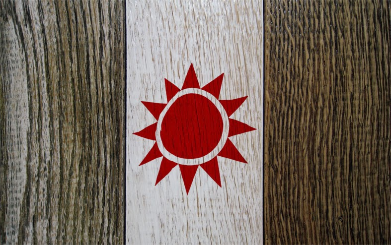 tavolo dipinto a mano di design