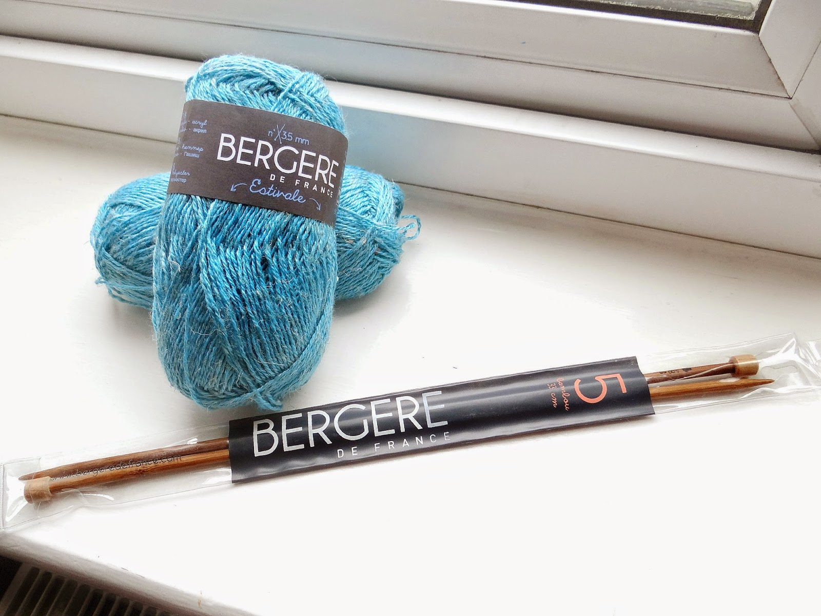knitting, lace stitch or faggoting, Bergere De France Estivale in Turquoise