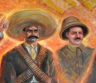Resumen de america 2016 nombres de personajes de la for Emiliano zapata mural