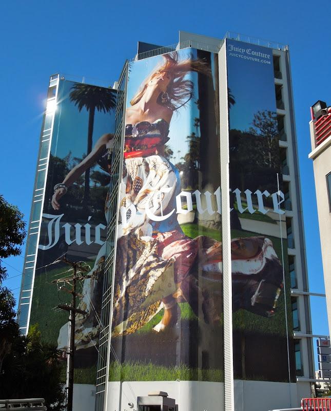 Giant Juicy Couture billboard