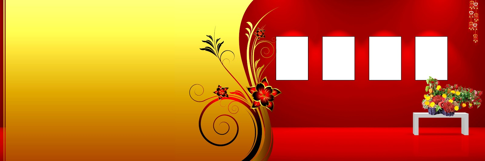Digital banner design for psd files - 12x36 Album Photoshop Templates Creations Naveengfx