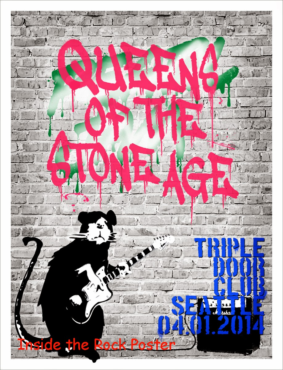 INSIDE THE ROCK POSTER FRAME BLOG Banksy Queens Of The
