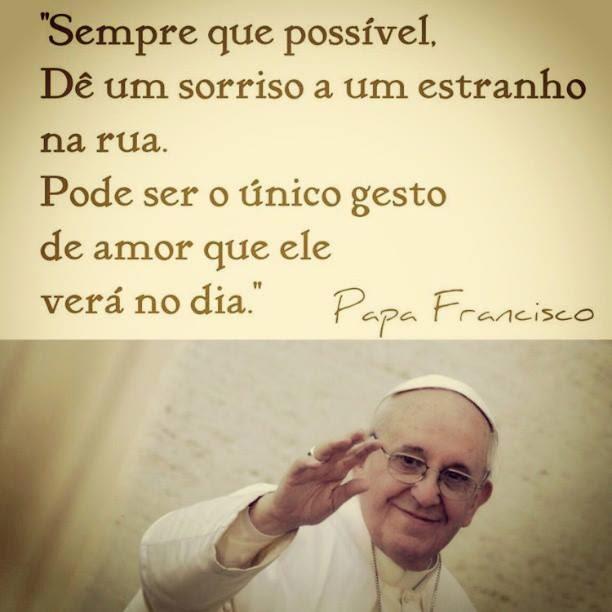 O Papa Francisco falou