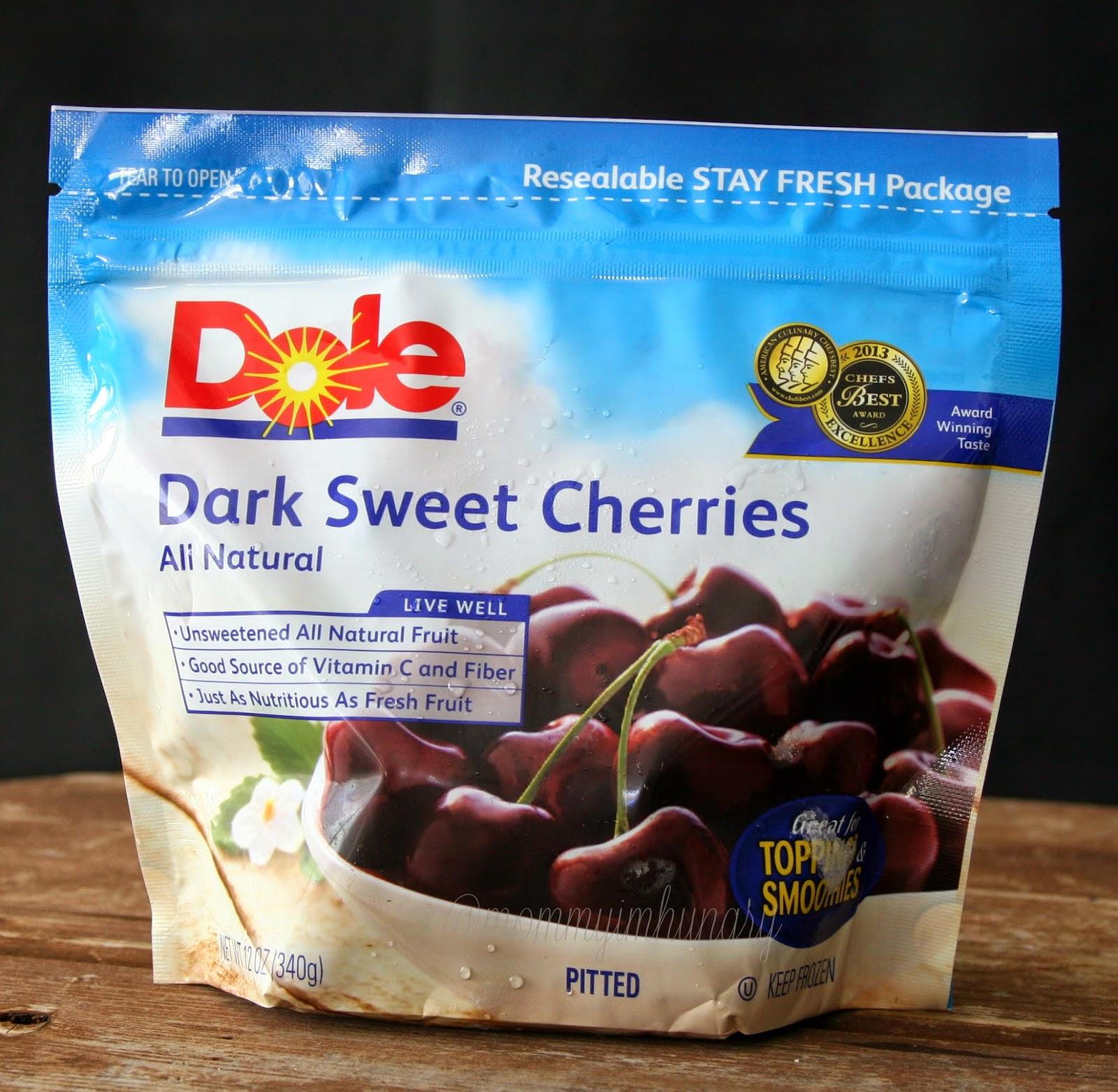 dole cherry crumble cake & chocolate brownie cherry ice cream #teamdole #getfrozen