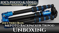 MeFOTO Aluminum Backpacker Travel Tripod (A0350Q0B BLUE) Unboxing | Joe's Video Blog