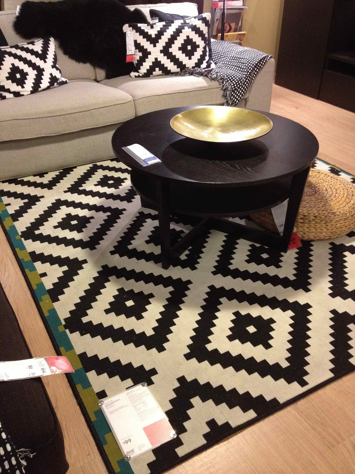 Poang Ikea Chair And Footstool ~ This Lappljung Ruta rug was only $99 Amazing value, big impact