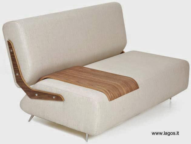 Bansko Boo sillón informal con bandeja de madera laminada sobre asiento
