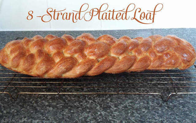 8 strand plaited braided loaf recipe | Halal Home Cooking