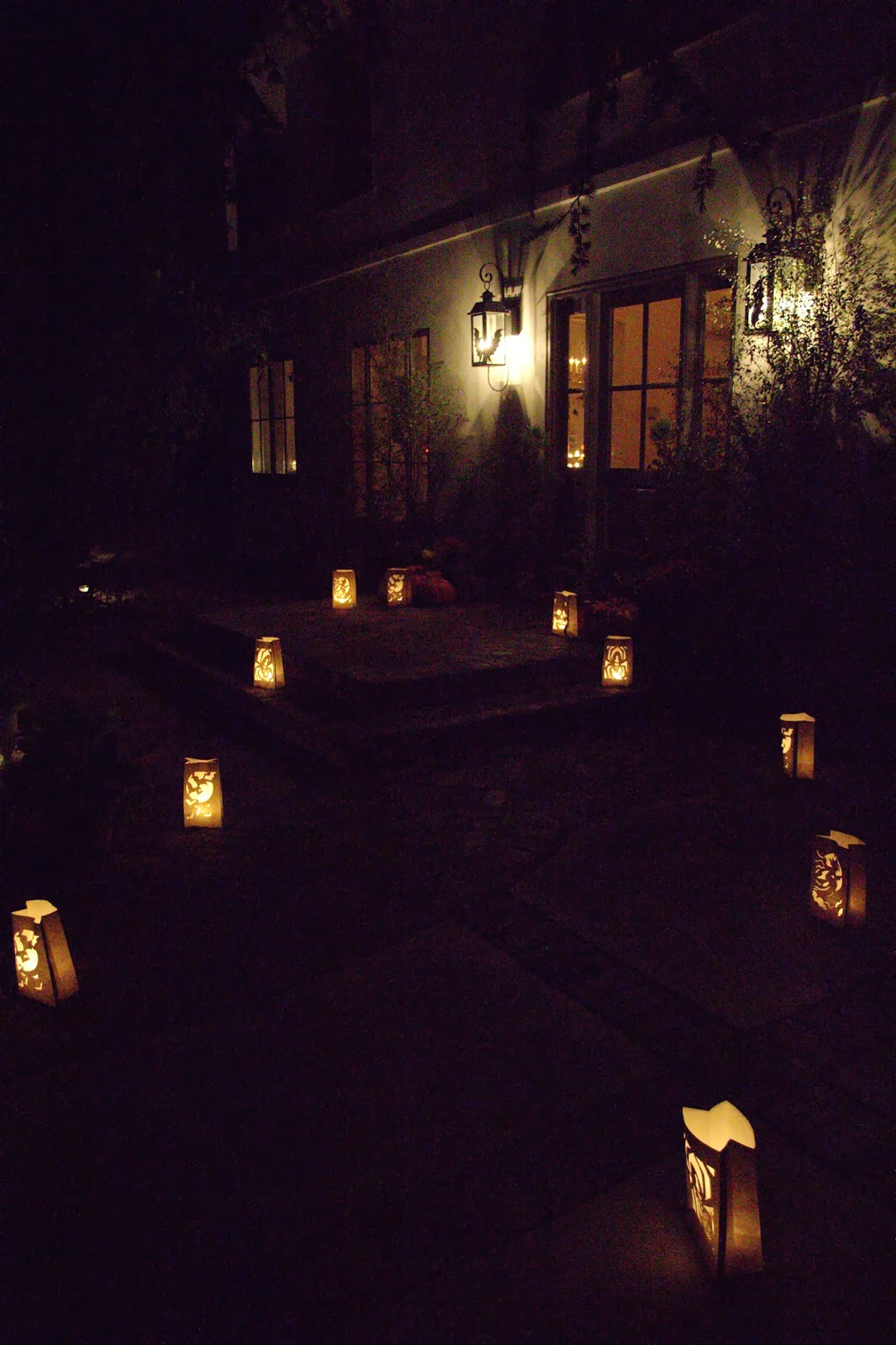 Luminarias lighting the pathway 2: Spooky Glam Halloween Party