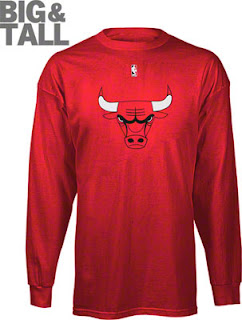 Chicago Bulls Big and Tall Long Sleeve T-Shirt