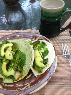 Meatless Monday Green Tacos by Future Relics Pottery