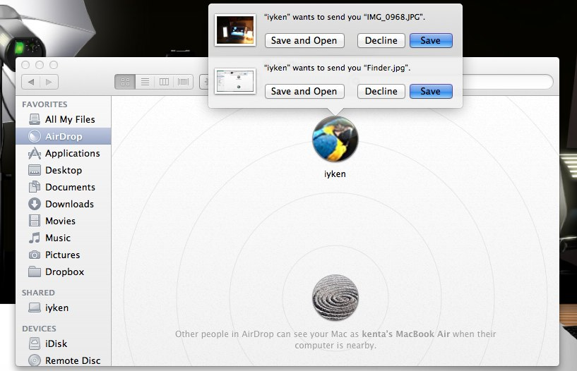 how to turn on airdrop on macbool air