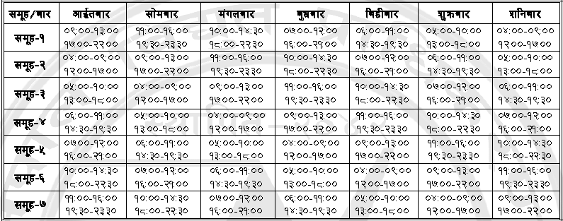 new-loadshedding-schedule