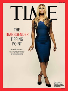 TRANSGENDER ACTRESS, LAVERNE COX COVERS TIME MAGAZINE
