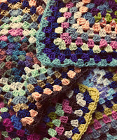 Loving the colours of my crochet granny squares