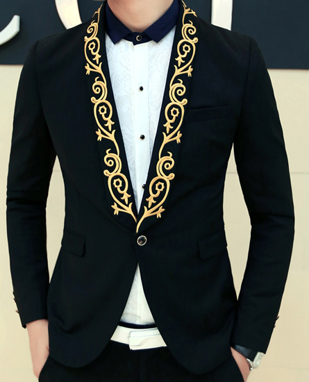 Gold Mens Blazer Photo Album - Reikian