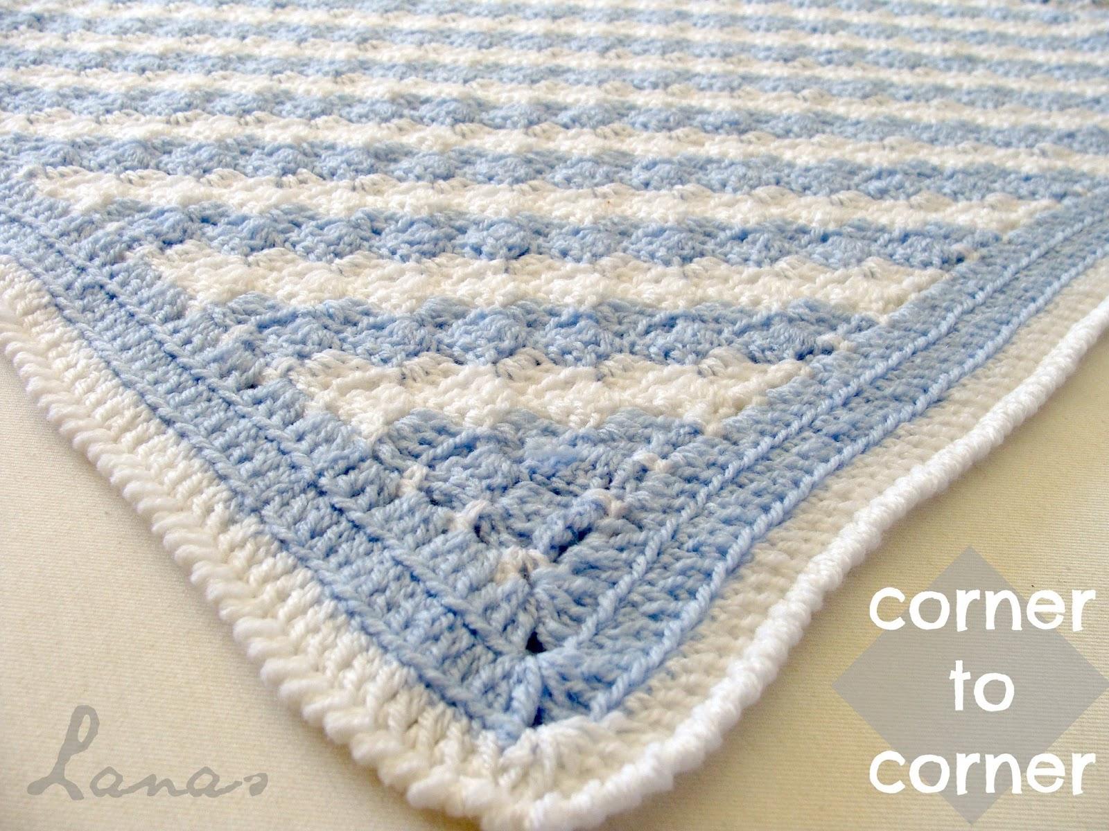 Lanas de Ana: Diagonal Blanket