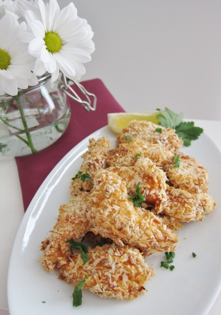 Crunchy Oven Fried Chicken recipe from Nomsies Kitchen