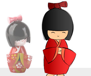 boneka kimono jepang